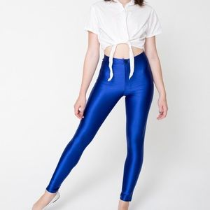 American Apparel Pants - American Apparel Royal Blue Disco Pants XS
